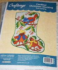 Craftways Plastic Canvas Kit: Cardinal Christmas Stocking Wall Hanging