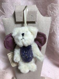 Boyds Bears Plush Mini Ornament~ Meadow Butterfly Bear