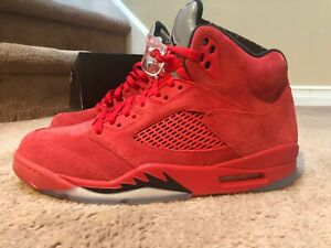 Nike Air Jordan 5 Red Suede - 136027-602