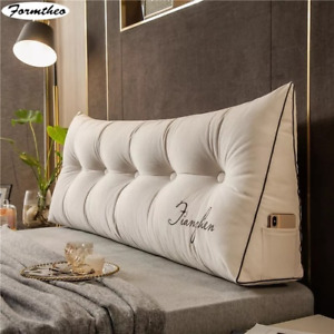 Big Long Wedge Pillow Decor Home Bed Headboard Back Cushion Single Double Bed