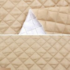 Quilted Polycotton Fabric Nylon Backed Diamond Shaped Quilting Padded Sewing