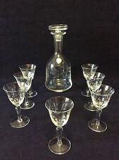 Villeroy et Bosch service à liqueur carafe sept verres signé