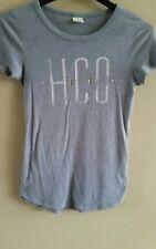 HOLLISTER Women's Tee-Shirt shirt Top Gray Size Small
