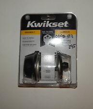 Kwikset 96600-590 Venetian Bronze Single Cylinder Deadbolt R19079