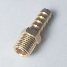 "Brass Male Straight Barb Fitting Hose 1/4"" ID 1/8"" NPT Water Air Fuel"