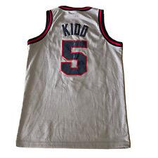 Vintage Nike New Jersey Nets Throwback 1977 Jason Kid Jersey Sz Small NBA Rare