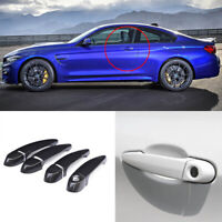 Carbon Fiber Exterior Door Handle w/o Smart Key Cover Trims For BMW M4 F82 F83