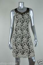 Ellen Tracy New Ivory Lace Beaded Lined Shift Dress MSRP $128 Size 2