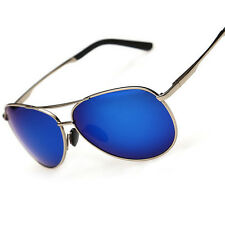 Gun-metal POLARIZED UV400 blue lenses night vision sunglasses eyewear C1389S