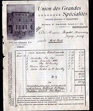 """PARIS (IX° Arrt.) PRODUITS PHARMACEUTIQUES & HYGIENIQUES """"Docteur SAISON"""" en1906"""
