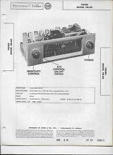 1955 PHOTOFACT Fisher FM Receiver Tuner Radio FM-80 Manual #1287