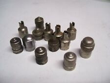 Vintage Tire valve old metal caps tool auto accessory gm street hot rod parts