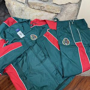 Vintage Mexico El Tri Track Suit XL National Team World Soccer Jacket Pants