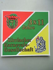 3x11 Jahre Kirrlacher Karnevalsgesellschaft 1991 Kirrlach Karneval