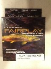 New listing Cortland Fairplay fly Fishing Line, Floating Rocket Taper, Wf4F, Orange
