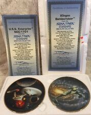 Star Trek Starships Collection Klingon Battlecruiser Uss Enterprise Mini Plates
