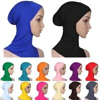 Under Scarf Hat Cap Bone Bonnet Ninja Hijab Islamic Neck Cover Muslim Colors