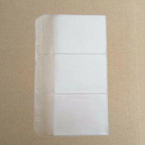 A6 3 Slots Plastic Envelope Document Card Storage Insert Refill Organiser  #JP