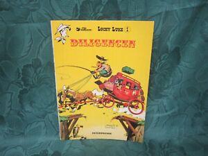 vintage Lucky Luke book in danish, no 1  ,diligencen, 1981