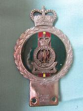 RARE Original J R GAUNT Car Badge MILITARY Queen Marys Regiment SURREY YEOMANRY