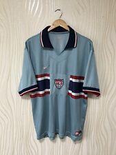 USA 1995 1996 AWAY FOOTBALL SHIRT SOCCER JERSEY BLUE NIKE VINTAGE