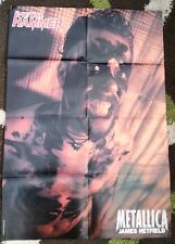 METALLICA James & Lars 2-sided LARGE magazine POSTER / Pin Up 32x22  inches