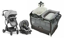 Stroller Baby Travel System with Car Seat Portable Playard Bassinet Rocker Pram