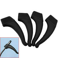 2 Pairs Black Reading Glasses Eyeglass Ear Hook Silicone Temple Tips Holder