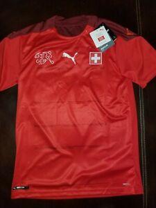 Switzerland 2020 PUMA Home Football Shirt Men's Size S Suisse Soccer Jersey NWT