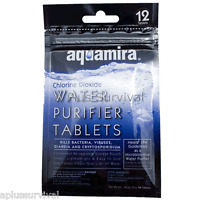 Aquamira Chlorine Dioxide Military Drinking Water Purification Tablets 12 Pack