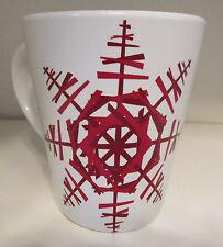 "STARBUCKS  ""2012"" CHRISTMAS RED SNOWFLAKE COFFEE MUG"