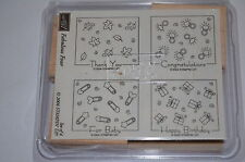 Stampin up FABULOUS FOUR Baby Wedding Birthday Thank You unmounted NEW