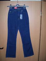 H.I.S Jeans Sunny Gr.50 L31 NEU Damen Stretch Hose Bootcut Denim Blue Cross HIS
