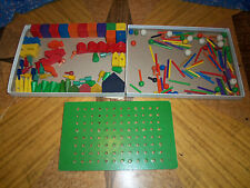 Old   ? Building Toys Wood Train Car Trucks Houses Sticks Beads   Wide Variety