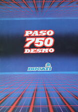 Ducati 750 Paso Desmo 1986 brand new fold out brochure