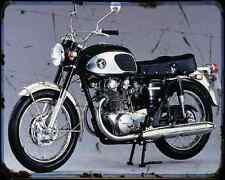 Honda Cb 450 Black Bomber A4 Metal Sign Motorbike Vintage Aged