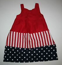 New Gymboree Red White and Blue Bow Summer Dress 3T NWT July 4th Girls Holiday