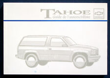 Owner's Manual * Betriebsanleitung 1995 Chevrolet Chevy Tahoe (F)