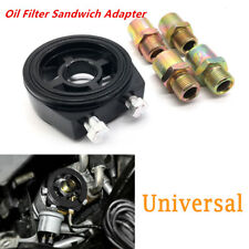 Car Oil Filter Temp Pressure Cooler Gauge Sandwich Plate Adapter Sensor M20 Nice