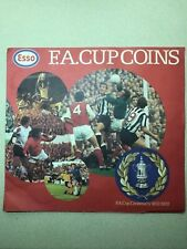 Esso FA Cup football Coin Collection Album 1972 complete set. on card