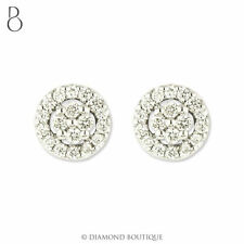 Stud Very Good Cut White Gold VS1 Fine Diamond Earrings