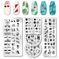 PICT You Nail Stamping Plates Leaves Pattern Nail Art Stencil Stainless Steel