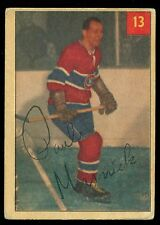 1954 55 PARKHURST 13 PAUL MASNIC VG-EX MONTREAL CANADIENS HOCKEY LUCKY PREM BACK