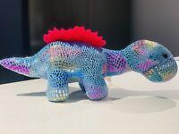 "New Toy Factory Plush Paradise Blue Finback  Dinosaur Plush Stuffed Animal 10"""