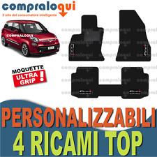 TAPPETINI su MISURA PER FIAT 500L in MOQUETTE POSTERIORE UNITO + 4 RICAMI TOP