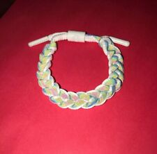 Lion Head Unisex Iridescent Shoelace Wristband Bracelet - White