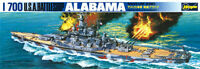 Hasegawa 49608 US Battleship Alabama 1/700 Scale Plastic Model Kit