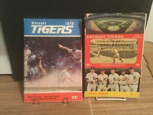 (2) Detroit Tigers programs 1969 and 1972 $0.99 sale