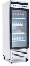 Atosa Mcf8705 Glass Door Refrigerator S/S W/Casters Bottom Mount Compressor