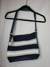 NWT The Sak Navy Stripe Shoulder Bag Hobo Purse Crocheted